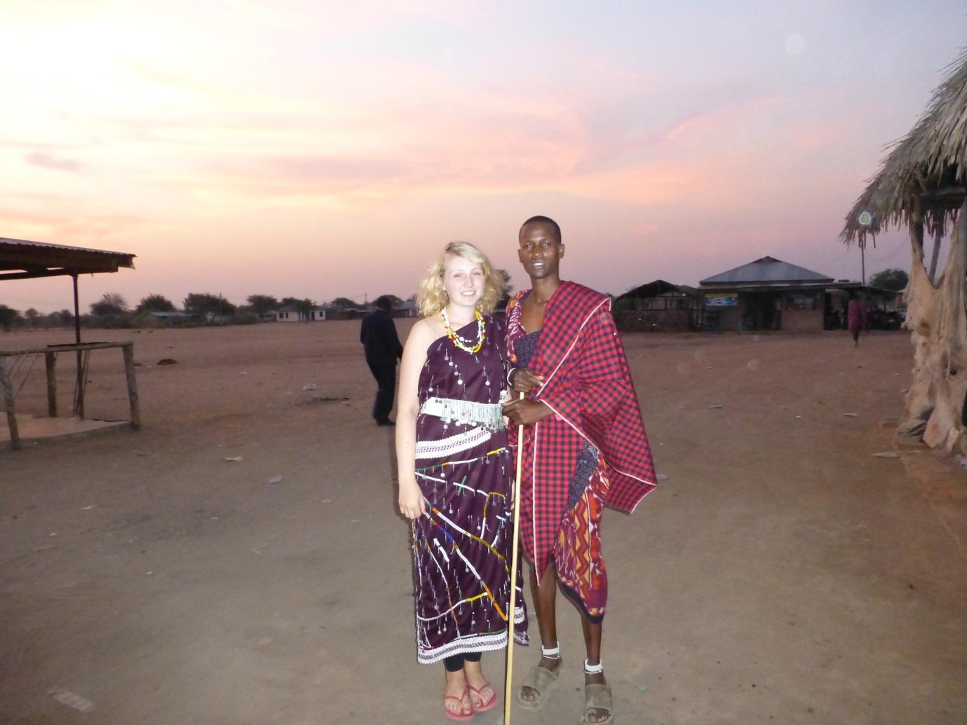 Tanzania student volunteering