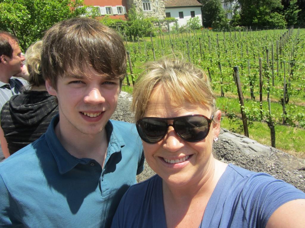 the Royal vineyard behind us.  40,000 btls a year.