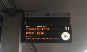 My train Florence to Salerno