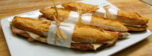 french baggette sandwich